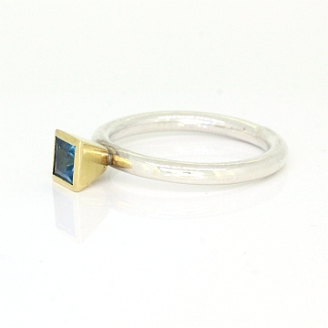 GoldSilverBlueTopazStackingRing-1