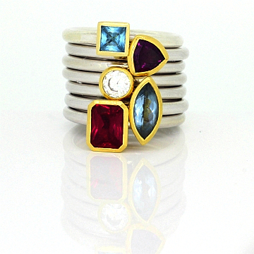 GoldSilverBlueTopazStackingRing-2