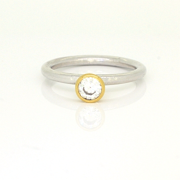 GoldSilverDiamondStackingRing