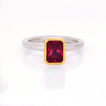 GoldSilverRubyStackingRing